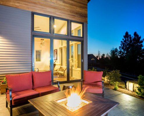Exterior view of custom designed home